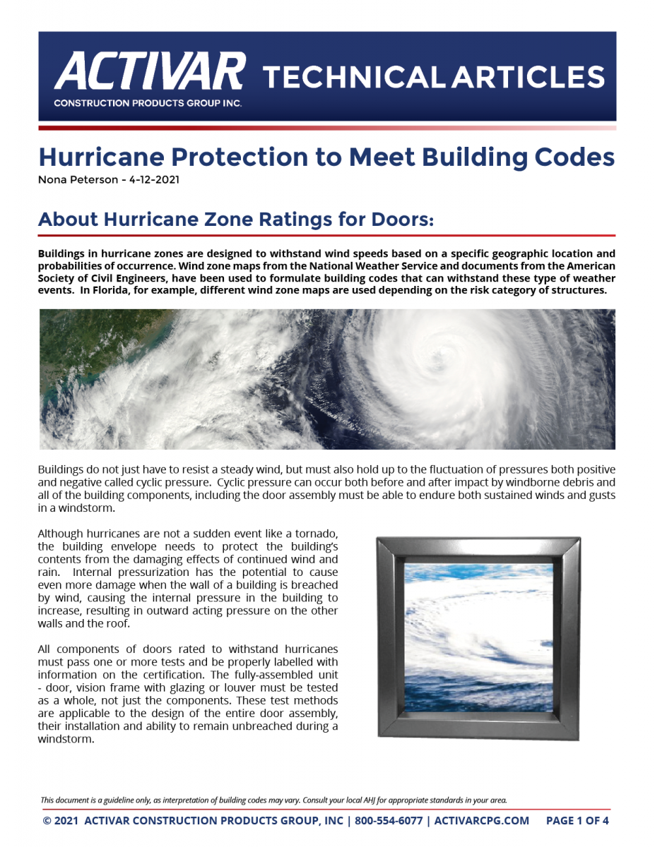 Hurricane Protection to Meet Building Codes PDF Thumbnail