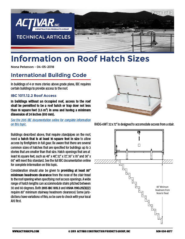 Information on Roof Hatch Sizes PDF Thumbnail