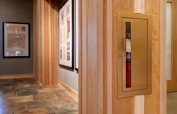Square Foot Clubhouse At Hazeltine National Specifies JL - Jl fire extinguisher cabinets