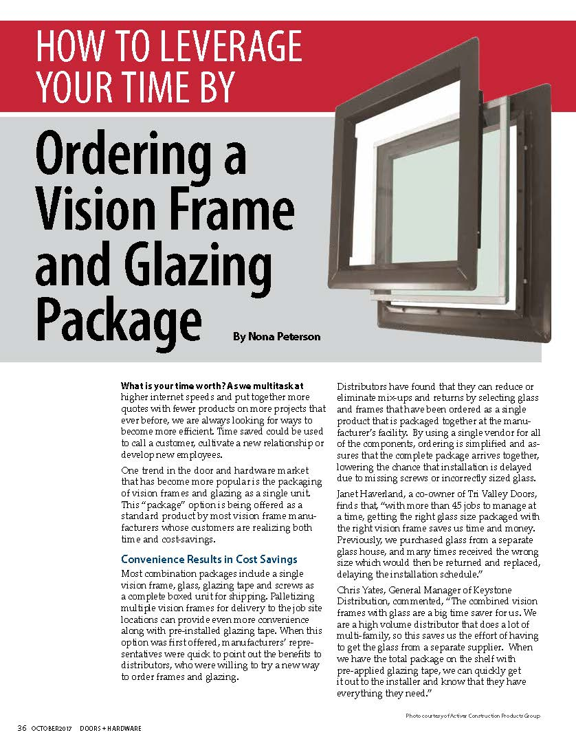 How to Leverage Your Time by Ordering a Vision Frame and Glazing Package