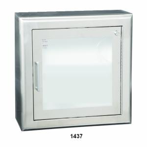 1400 SERIES - RECESSED, SEMI RECESSED OR SURFACE-MOUNTED CABINET FOR AED'S