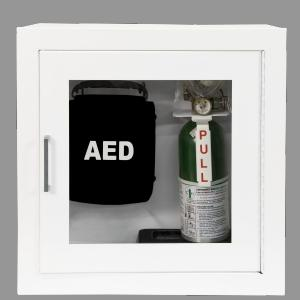 1900 SERIES - DUAL AED &amp; EMERGENCY OXYGEN RECESSED OR SURFACE-MOUNTED CABINET