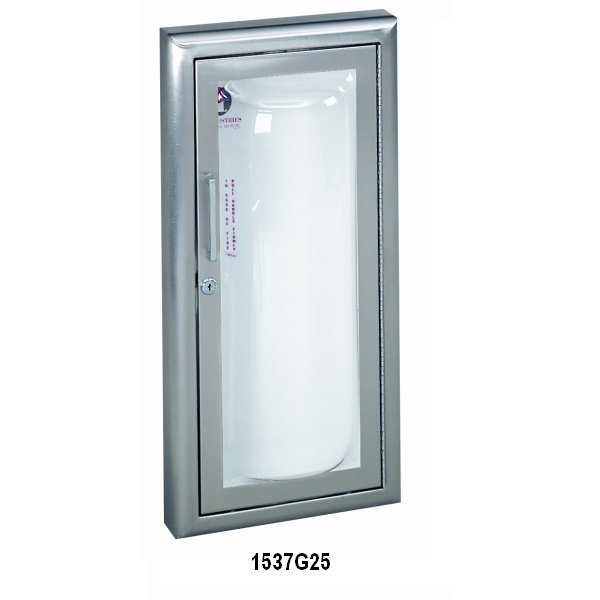 CLEAR VU SERIES   FIRE EXTINGUISHER CABINET WITH ACRYLIC BUBBLE