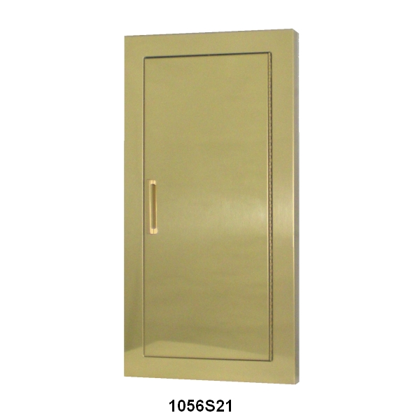 CAVALIER SERIES   DECORATIVE BRONZE OR BRASS FIRE EXTINGUISHER CABINET