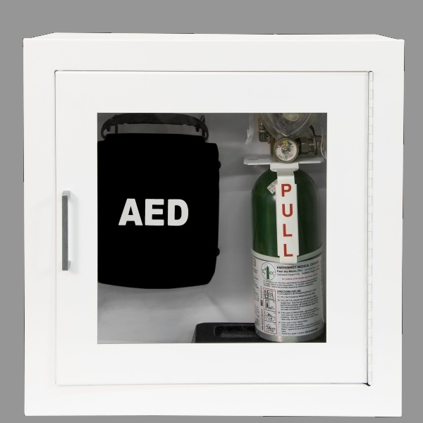 1900 SERIES   DUAL AED U0026 EMERGENCY OXYGEN RECESSED OR SURFACE MOUNTED  CABINET