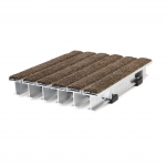 Activ-Grate™ EG900 Rigid Entrance Grating with Walnut Premium Carpet