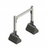 Two Keycurbs with a Single Bridge Support