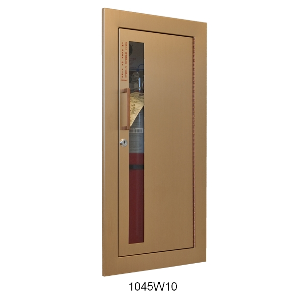CAVALIER SERIES - DECORATIVE BRONZE OR BRASS FIRE EXTINGUISHER CABINET
