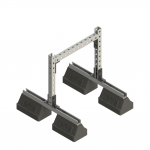 Dual Base Bridge Supports